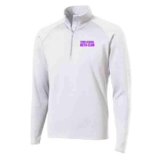 Beta Club Sport-Tek Embroidered Mens Half Zip Stretch Pullover
