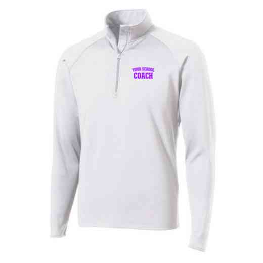 Coach Sport-Tek Embroidered Mens Half Zip Stretch Pullover