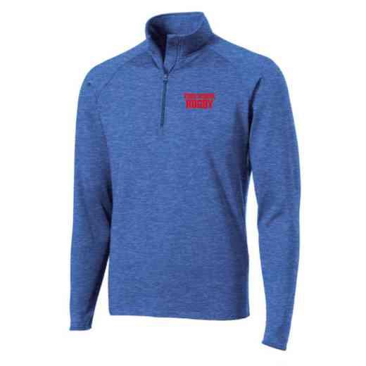 Rugby Sport-Tek Embroidered Mens Half Zip Stretch Pullover