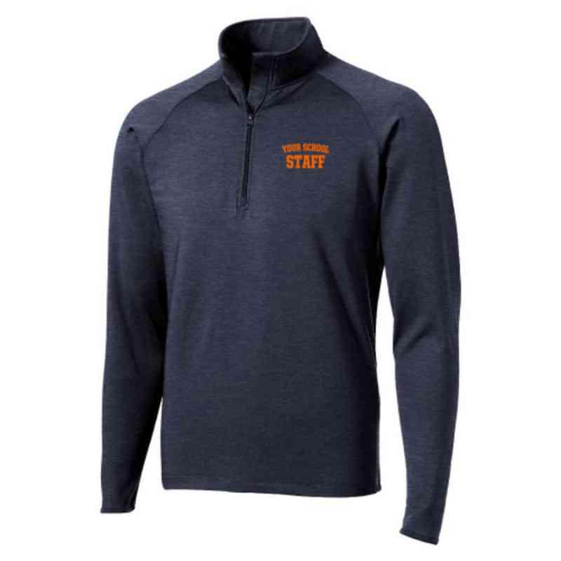 Staff Sport-Tek Embroidered Mens Half Zip Stretch Pullover