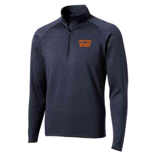 Staff Sport-Tek Embroidered Mens Half Zip Stretch Pullover
