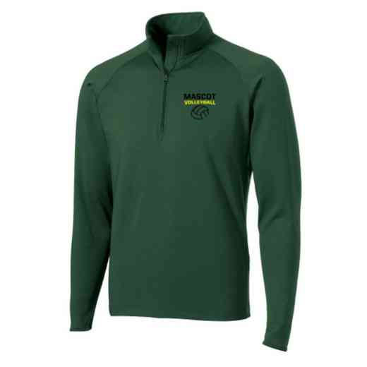 Volleyball  Sport-Tek Embroidered Mens Half Zip Stretch Pullover