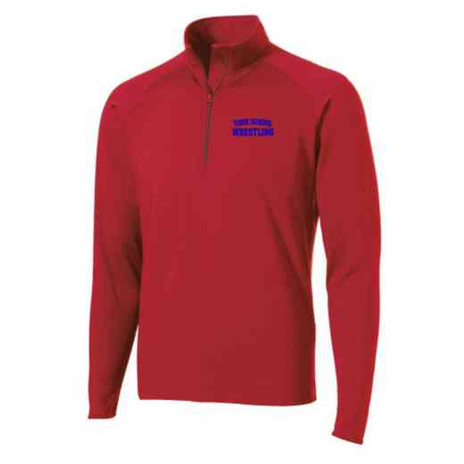 Wrestling Sport-Tek Embroidered Mens Half Zip Stretch Pullover