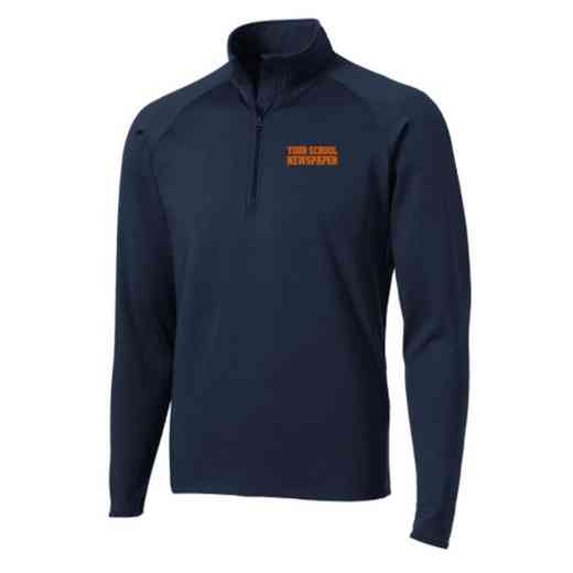 Newspaper Sport-Tek Embroidered Mens Half Zip Stretch Pullover