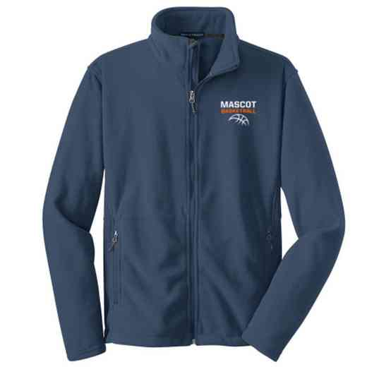 Basketball Embroidered Adult Zip Fleece Jacket
