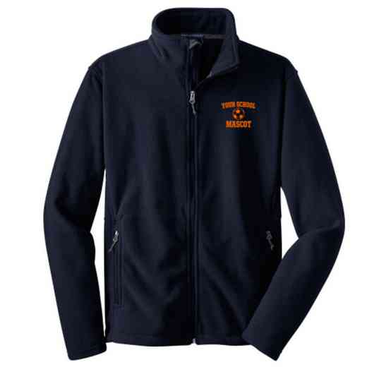 Soccer Embroidered Adult Zip Fleece Jacket