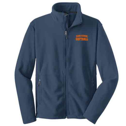Softball Embroidered Adult Zip Fleece Jacket