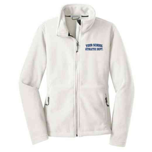 Athletic Department Embroidered Women's Zip Fleece Jacket