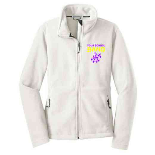 Band Embroidered Women's Zip Fleece Jacket
