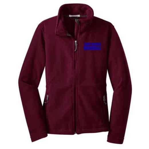 Baseball Embroidered Women's Zip Fleece Jacket