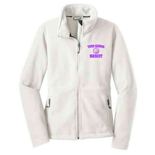 Basketball Embroidered Women's Zip Fleece Jacket