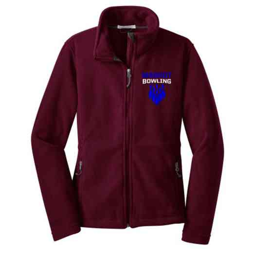 Bowling Embroidered Women's Zip Fleece Jacket