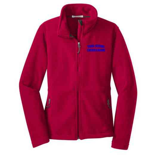 Cheerleading Embroidered Women's Zip Fleece Jacket