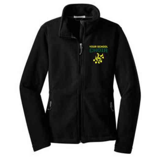 Choir Embroidered Women's Zip Fleece Jacket