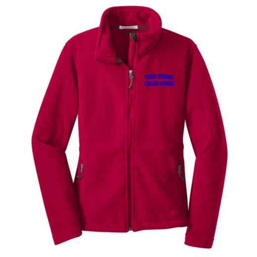 Color Guard Embroidered Women's Zip Fleece Jacket