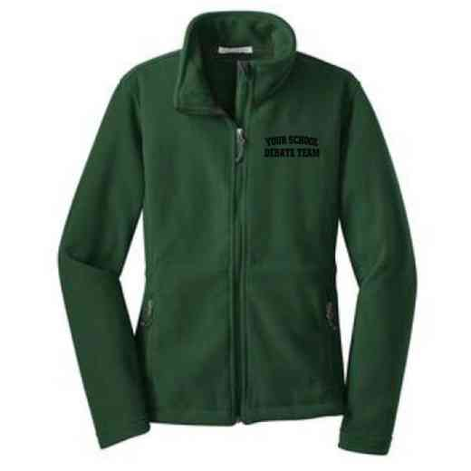 Debate Team Embroidered Women's Zip Fleece Jacket