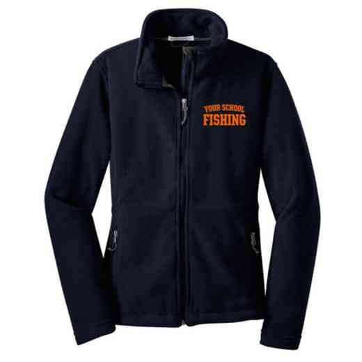 Fishing Embroidered Women's Zip Fleece Jacket