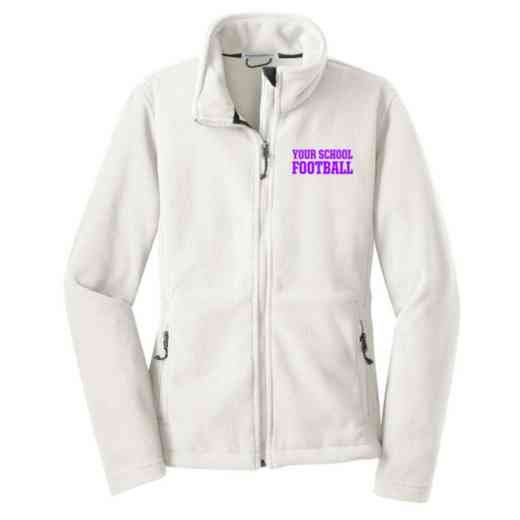 Football Embroidered Women's Zip Fleece Jacket