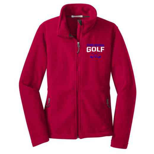 Golf Embroidered Women's Zip Fleece Jacket