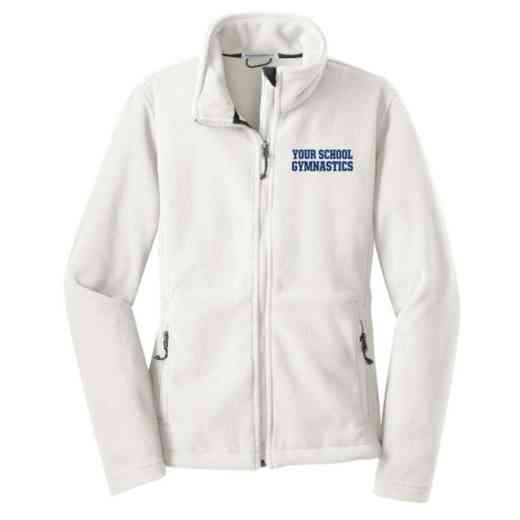 Gymnastics Embroidered Women's Zip Fleece Jacket