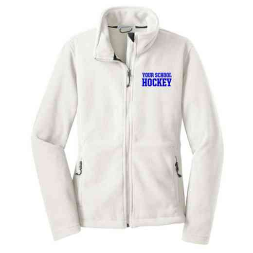 Hockey Embroidered Women's Zip Fleece Jacket