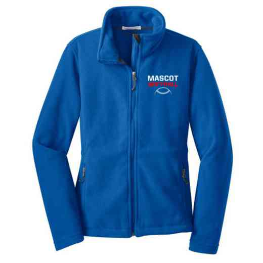 Softball Embroidered Women's Zip Fleece Jacket