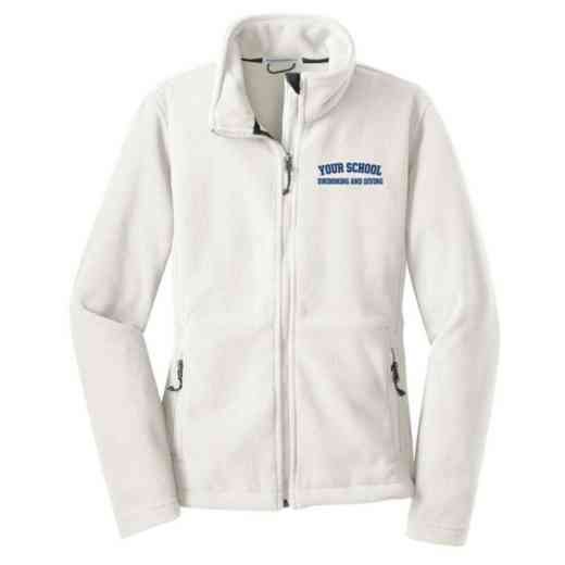Swimming and Diving Embroidered Women's Zip Fleece Jacket