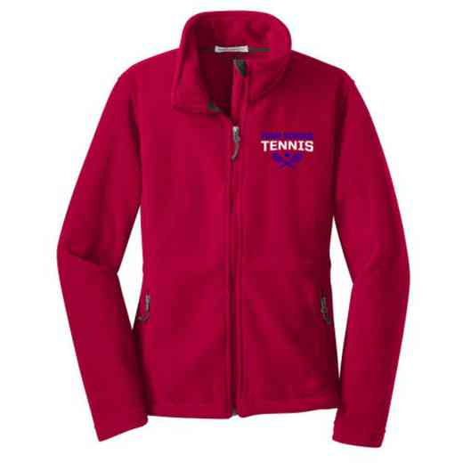 Tennis Embroidered Women's Zip Fleece Jacket