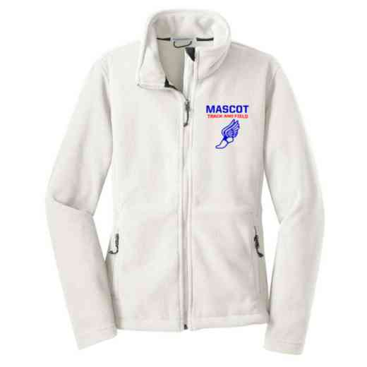 Track and Field Embroidered Women's Zip Fleece Jacket