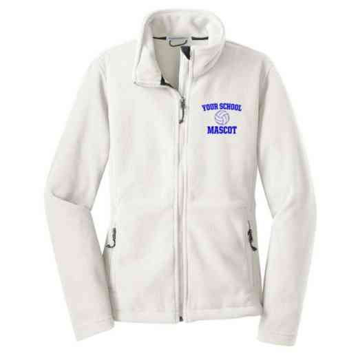 Volleyball  Embroidered Women's Zip Fleece Jacket