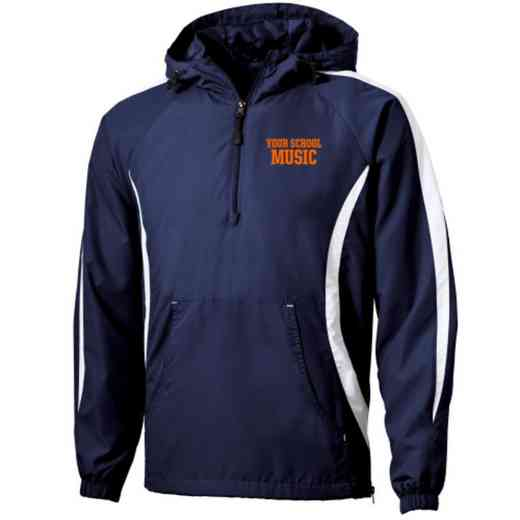 Music Embroidered Sport-Tek Half Zip Raglan Anorak