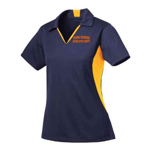 Athletic Department Sport-Tek Embroidered Womens Side Blocked Sport Wick Polo