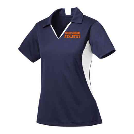 Athletics Sport-Tek Embroidered Womens Side Blocked Sport Wick Polo