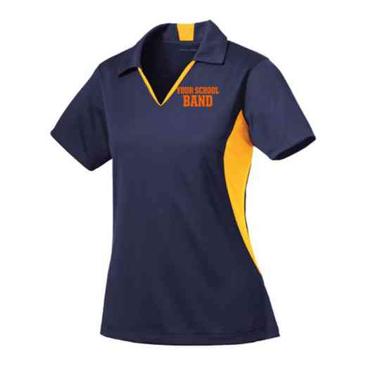 Band Sport-Tek Embroidered Womens Side Blocked Sport Wick Polo