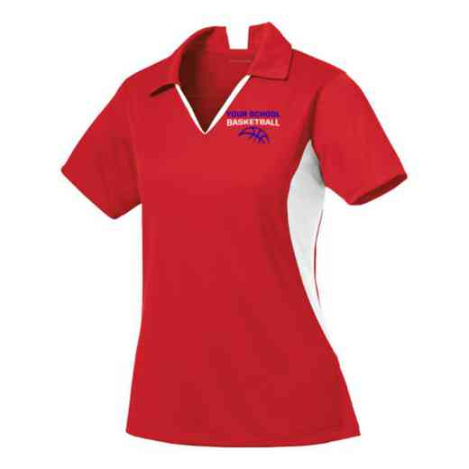 Basketball Sport-Tek Embroidered Womens Side Blocked Sport Wick Polo