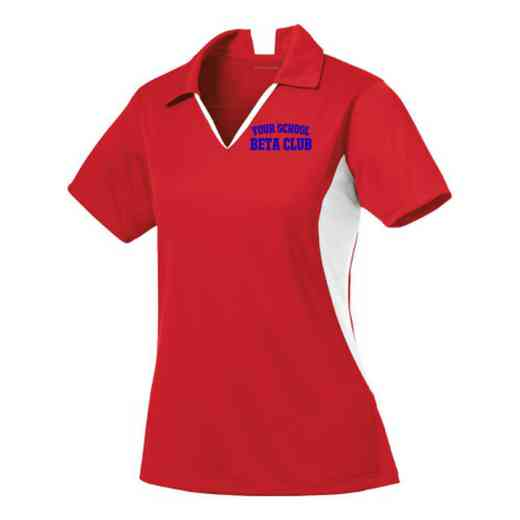 Beta Club Sport-Tek Embroidered Womens Side Blocked Sport Wick Polo