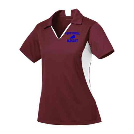 Cheerleading Sport-Tek Embroidered Womens Side Blocked Sport Wick Polo