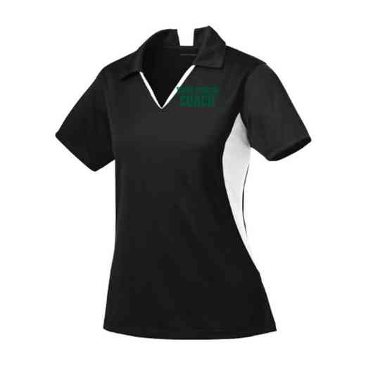 Coach Sport-Tek Embroidered Womens Side Blocked Sport Wick Polo