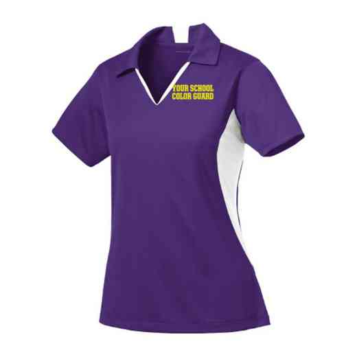 Color Guard Sport-Tek Embroidered Womens Side Blocked Sport Wick Polo