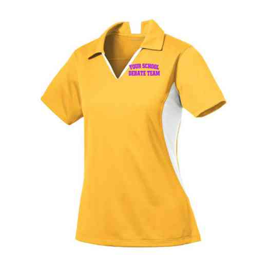 Debate Team Sport-Tek Embroidered Womens Side Blocked Sport Wick Polo
