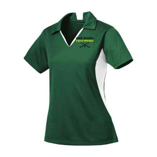 Field Hockey Sport-Tek Embroidered Womens Side Blocked Sport Wick Polo