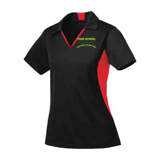 Football Sport-Tek Embroidered Womens Side Blocked Sport Wick Polo