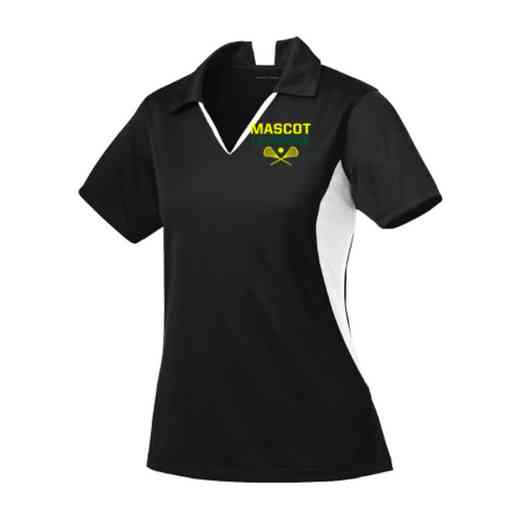 Lacrosse Sport-Tek Embroidered Womens Side Blocked Sport Wick Polo