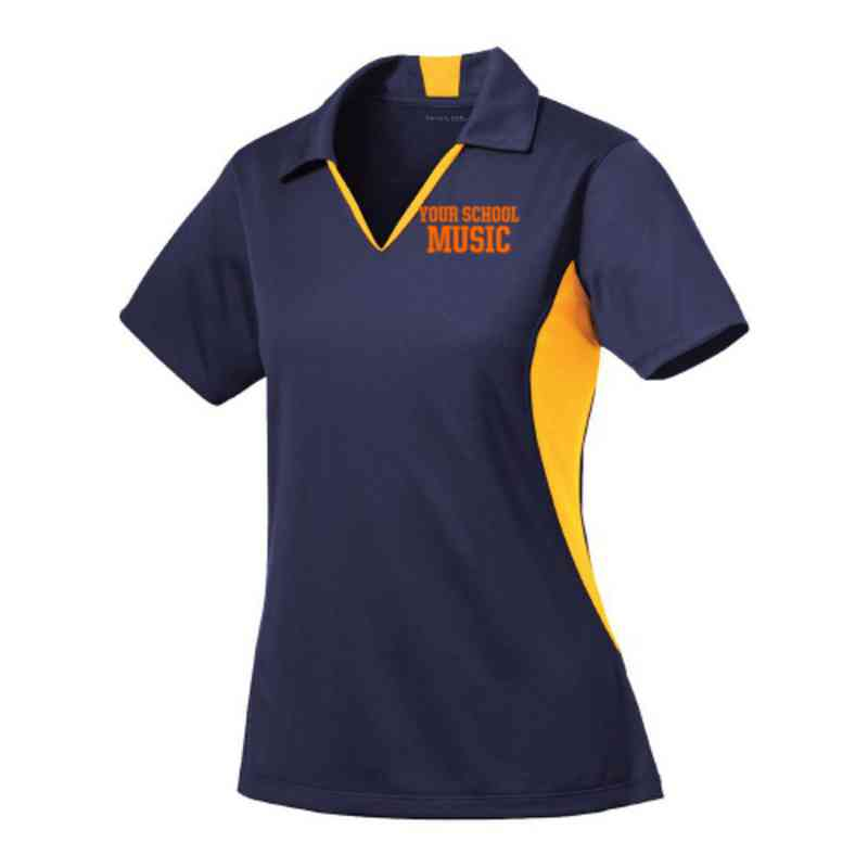 Music Sport-Tek Embroidered Womens Side Blocked Sport Wick Polo