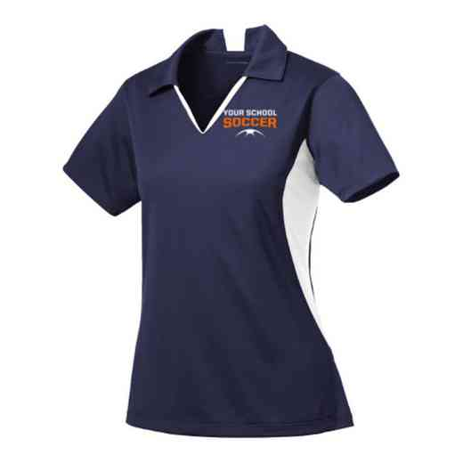 Soccer Sport-Tek Embroidered Womens Side Blocked Sport Wick Polo