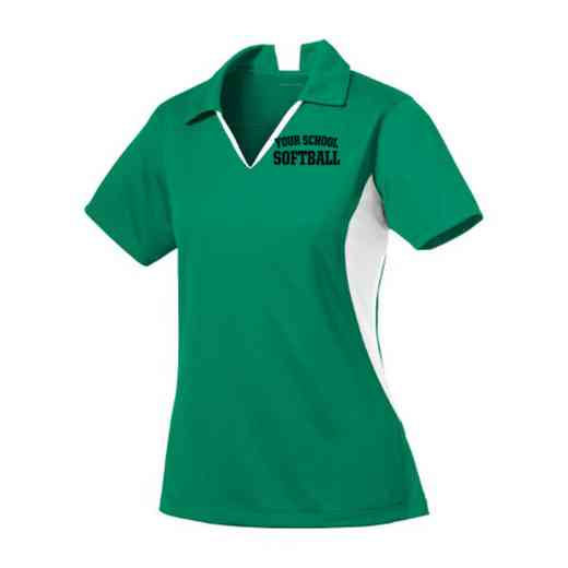 Softball Sport-Tek Embroidered Womens Side Blocked Sport Wick Polo