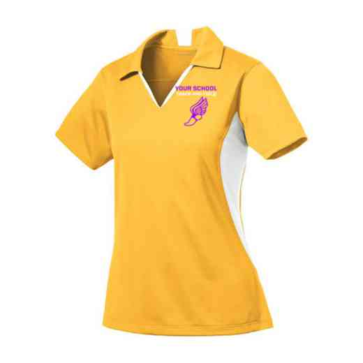Track and Field Sport-Tek Embroidered Womens Side Blocked Sport Wick Polo