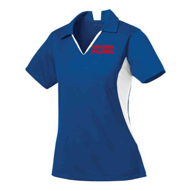 Volleyball  Sport-Tek Embroidered Womens Side Blocked Sport Wick Polo