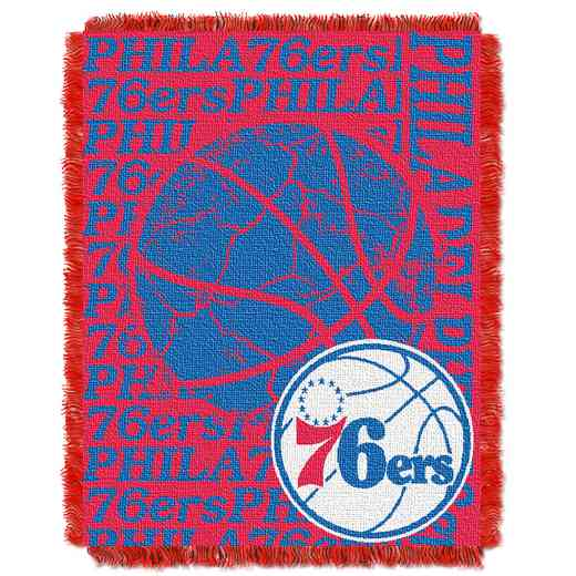 1NBA019040020RET: NBA  JACQUARD THROW, 76ers
