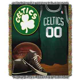 1NBA051020002RET: NBA JACQUARD VINTAGE THROW, Celtics